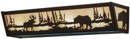 Meyda Tiffany 157351 Moose & Black Bear Country Oil Rubbed Bronze / White Iri Blue Opal Bath Lighting
