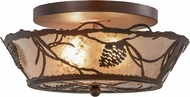 Meyda Tiffany 157592 Whispering Pines Rust / Wrought Iron / Silver Mica Home Ceiling Lighting