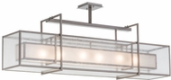 Meyda Tiffany 157692 Nelson Contemporary Matte Clear Island Lighting