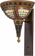 Meyda Tiffany 157927 Fleur-de-lis Tiffany Beige Ia Red Lt Blue Green Wall Lamp