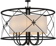 Meyda Tiffany 157973 Penelope Contemporary Black / Carmel Onyx Fluorescent Drop Lighting