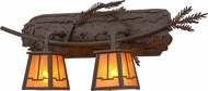 Meyda Tiffany 158071 Pine Branch Valley View Rustic Cafe Noir / Has Halogen Sconce Lighting