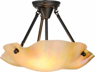 Meyda Tiffany 158569 Metro Beige Iridescent Modern Bai Overhead Lighting