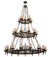 Meyda Tiffany 158764 Newcastle Oil Rubbed Bronze Chandelier Lighting