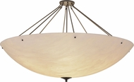Meyda Tiffany 158816 Madison Contemporary White Faux Alabaster Timeless Bronze Flush Ceiling Light Fixture