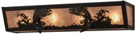 Meyda Tiffany 158827 Leaping Trout Rustic Black / Silver Mica Bath Light Fixture