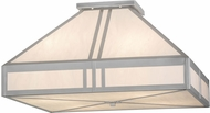 Meyda Tiffany 158831 Whitewing Nickel / White Faux Alabaster Flush Mount Ceiling Light Fixture