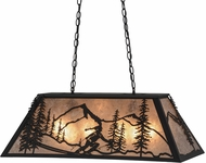 Meyda Tiffany 158854 Alpine Country Black / Silver Mica Island Lighting