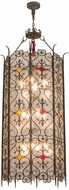 Meyda Tiffany 158858 Saskia Modern Gilded Tobacco Foyer Light Fixture