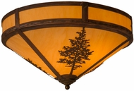 Meyda Tiffany 158930 Tamarack Rustic Hammered Vintage Copper Overhead Lighting Fixture