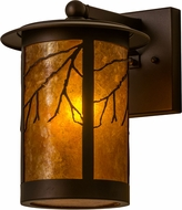 Meyda Tiffany 158931 Branches Country Mahogany Bronze / Amber Mica Wall Sconce Light