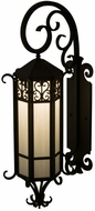 Meyda Tiffany 158954 Caprice Lantern Wrought Iron Wall Lighting