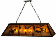 Meyda Tiffany 159251 Personalized Ranch Country Black / Amber Mica Kitchen Island Light