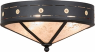 Meyda Tiffany 159466 Craftsman Target Black / Silver Mica Flush Lighting