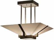 Meyda Tiffany 159508 Grayling Modern French Bronze Fluorescent Flush Mount Lighting