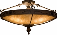 Meyda Tiffany 159823 Arabesque Gilded Tobacco Least Flush Mount Lighting Fixture