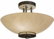 Meyda Tiffany 159962 Thurston Contemporary French Bronze Fluorescent Flush Ceiling Light Fixture