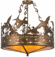 Meyda Tiffany 160003 Ducks in Flight Rustic Antique Copper / Amber Mica Home Ceiling Lighting