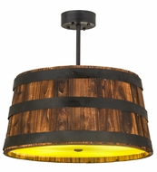 Meyda Tiffany 160086 Whiskey Barrel Country Overhead Light Fixture