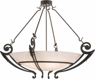 Meyda Tiffany 160402 Ceres Timeless Bronze / Faux Alabaster Ceiling Light
