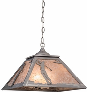 Meyda Tiffany 160480 Golfer Country Steel / Silver Mica Pendant Light