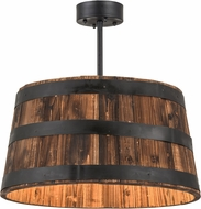 Meyda Tiffany 160496 Country Wood / Black Powdercoat Lighting Pendant