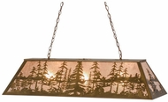 Meyda Tiffany 160564 Tall Pines Rustic Antique Copper / Silver Mica Kitchen Island Light Fixture