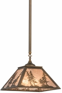 Meyda Tiffany 160577 Tall Pines Country Antique Copper / Silver Mica Hanging Lamp