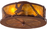 Meyda Tiffany 160593 Strike of the Eagle Country Rust / Amber Mica Fluorescent Flush Lighting