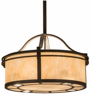 Meyda Tiffany 160604 Sargent Oil Rubbed Bronze / Carmel Onyx Hanging Light