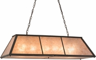 Meyda Tiffany 160613 Tri-Panel Timeless Bronze / Silver Mica Island Lighting
