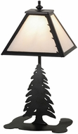 Meyda Tiffany 160852 Leafs Edge Rustic Black / White Alabaster Acrylic Table Lamp Lighting