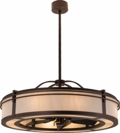 Meyda Tiffany 160883 Mahogany Bronze / Bleached Honey Onyx Hanging Pendant Light Ceiling Fan
