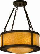 Meyda Tiffany 161333 Arts & Crafts Craftsman Beige Flush Mount Lighting Fixture