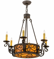 Meyda Tiffany 161588 Delano Chestnut Textured Chandelier Lamp