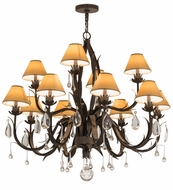 Meyda Tiffany 161602 Slenderleaf Copper Rust Chandelier Light