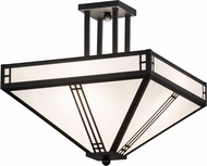 Meyda Tiffany 161765 Prairie Loft Mission Ca Black Text Powder Coat Flush Ceiling Light Fixture