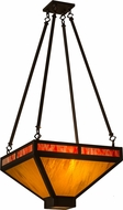 Meyda Tiffany 161846 Whitewing Oil Rubbed Bronze / Ha Burgundy Pendant Light