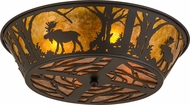 Meyda Tiffany 162067 Moose at Dawn Country Oil Rubbed Bronze / Amber Mica Home Ceiling Lighting
