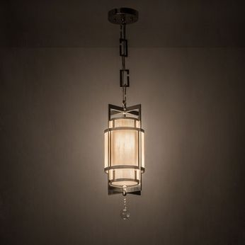 Meyda Tiffany 162163 Raiff Brushed Stainless Steel Mini Pendant Lighting