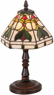 Meyda Tiffany 162205 Middleton Tiffany Mahogany Bronze Table Top Lamp