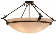 Meyda Tiffany 162241 Almeria Timeless Bronze Flush Mount Light Fixture