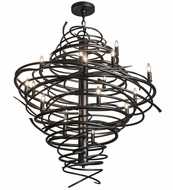 Meyda Tiffany 162308 Cyclone Contemporary Pewter Flush Mount Lighting Fixture