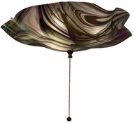Meyda Tiffany 162687 Metro Fusion Noir Swirl Iridescent Modern Blbi Frosted In Side Ceiling Lighting