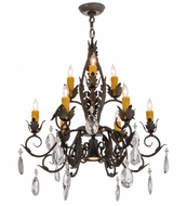 Meyda Tiffany 162815 New Country French Chestnut Textured Chandelier Lighting