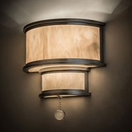 Meyda Tiffany 162838 Zayne Nickel / Alabaster Acrylic Lighting Wall Sconce