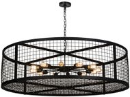 Meyda Tiffany 162850 Paloma Golpe Contemporary Black Drop Lighting Fixture