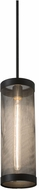 Meyda Tiffany 162940 Cilindro Cage Old Wrought Iron / Black Mini Hanging Light