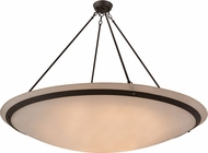 Meyda Tiffany 163033 Commerce White Acrylic / Oil Rubbed Bronze Pendant Light Fixture
