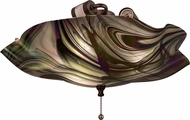 Meyda Tiffany 163549 Metro Fusion Noir Swirl Iridescent Contemporary Blbi Frosted In Side Flush Mount Lighting